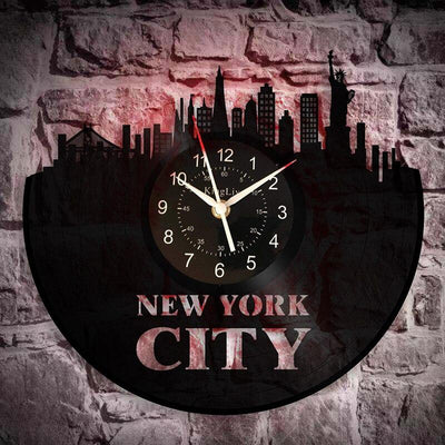 Horloge New York <br> City Skyline