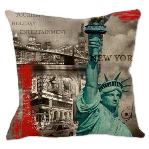 Coussin New York Rouge | NYC Shop