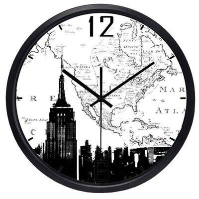 Horloge New York Carte Vintage | NYC Shop