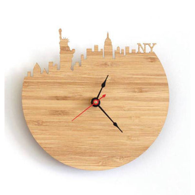 Horloge New York en Bois | NYC Shop