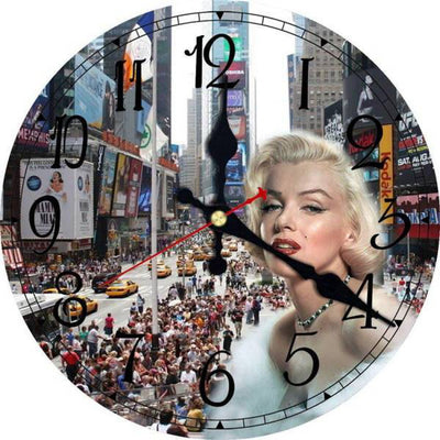 Horloge New York Foule de Times Square | NYC Shop