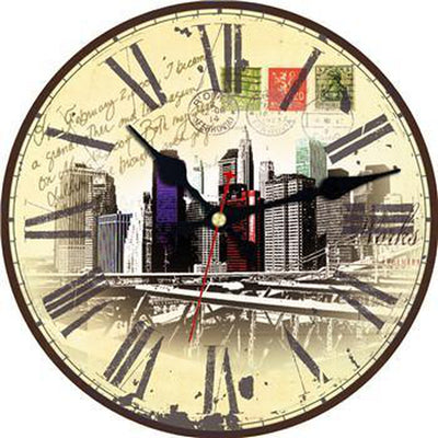 Horloge New York Skyline Vintage | NYC Shop