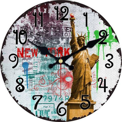 Horloge New York Ville de la Liberté | NYC Shop
