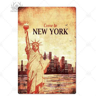 Panneau Come to New York | NYC Shop