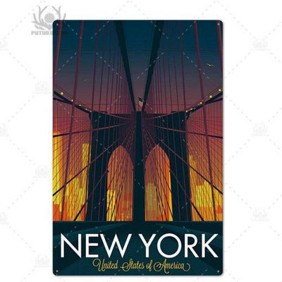 Panneau New York Brooklyn Bridge | NYC Shop