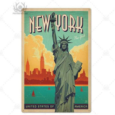 Panneau New York Carte Postale | NYC Shop