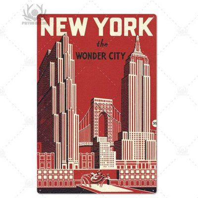 Panneau New York The Wonder City | NYC Shop