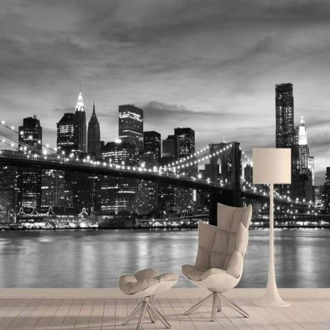 Papier Peint New York City Noir et Blanc | NYC Shop
