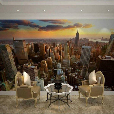 Papier Peint New York Manhattan Sunset | NYC Shop