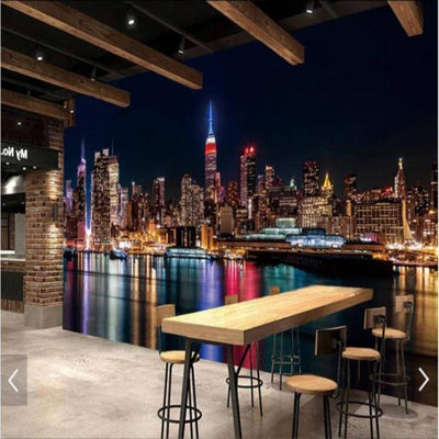 Papier Peint New York Skyline by Night | NYC Shop