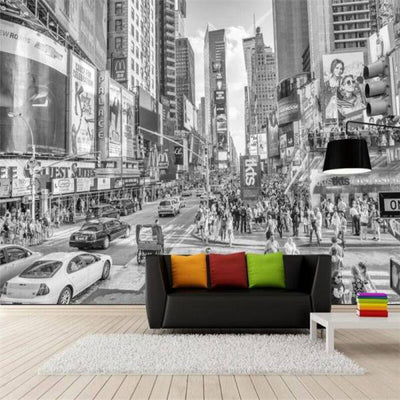 Papier Peint New York Times Square Noir et Blanc | NYC Shop