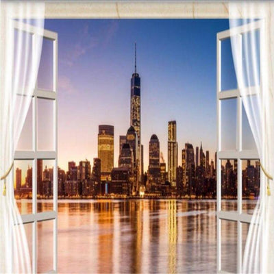 Papier Peint New York Trompe l'Oeil | NYC Shop