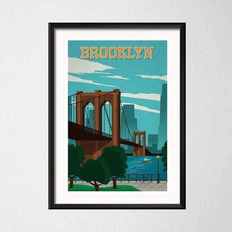 affiche brooklyn bridge