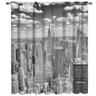 Rideau New York Manhattan Noir et Blanc | NYC Shop