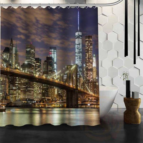 Rideau New York Pont de Brooklyn Skyline | NYC Shop