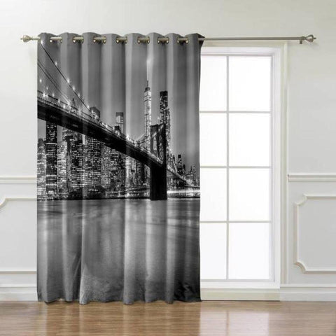 Rideau New York Pont de Brooklyn | NYC Shop