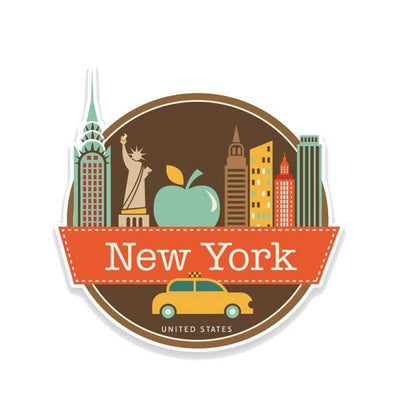 Sticker New York La Grosse Pomme | NYC Shop