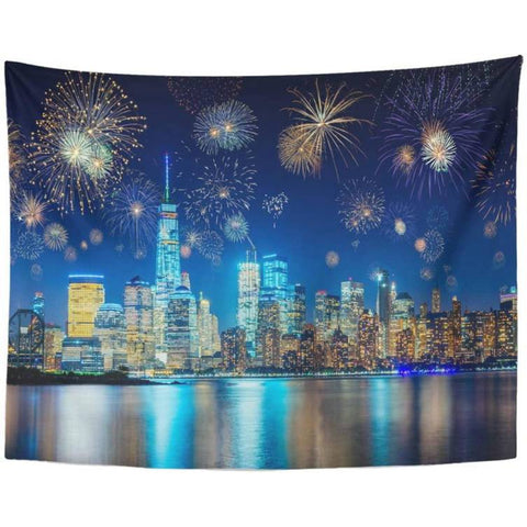 Tapisserie New York Feu d'Artifice | NYC Shop