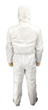 White Protective 60 GSM Nonwoven (Level 3) Isolation Coverall with Hood