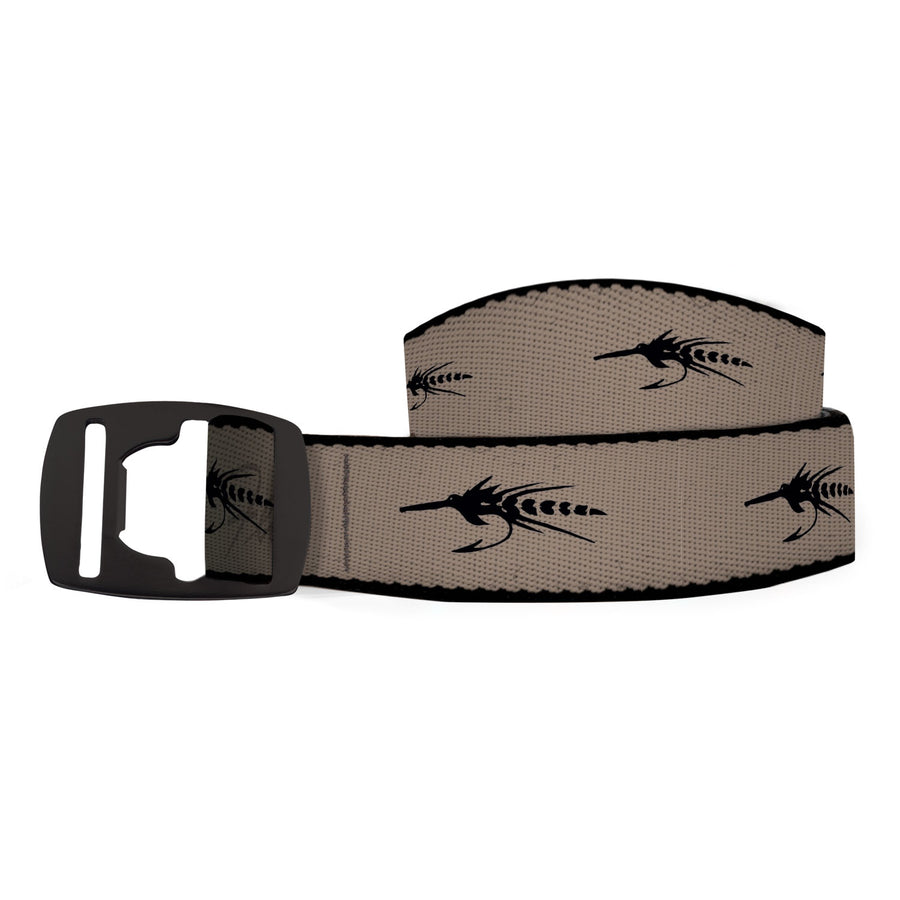 Croakies Vaughn Cochran Artisan Belt - Black Fly Tan
