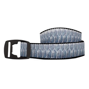 Croakies Fins, Fur & Feathers Artisan Belt - Tarpon Fish Skin