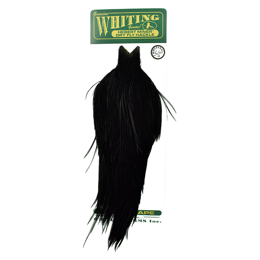 Whiting Hebert Miner Dry Fly Hackle Cape - Black
