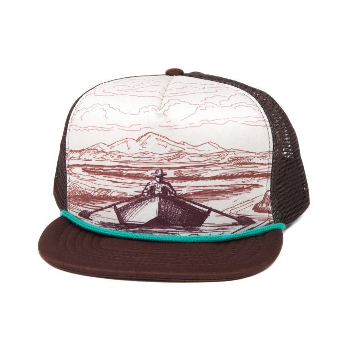 Fishpond Drifter Foam Trucker Hat - Brown / Cream
