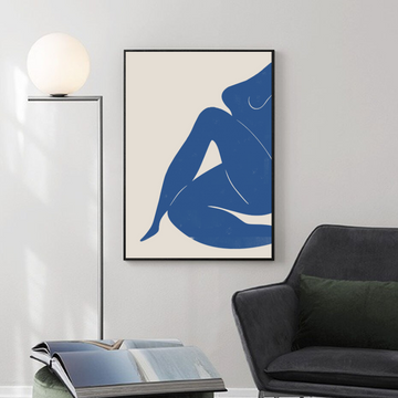 Nude Woman in Blue