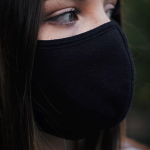 Triple Layered Cotton Black Mask Packs (Adult)