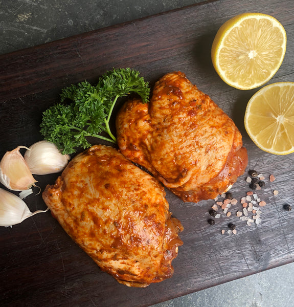 Marinated Yiros Free Range Chicken Chops - 1kg