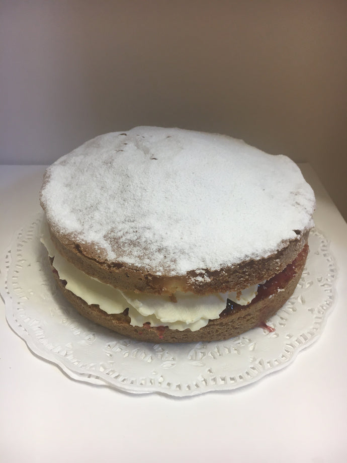 Fresh Jam and Cream Sponge-  Large Cakes