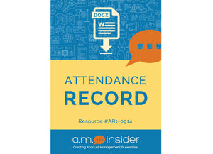 Attendance Record (FREE RESOURCE)
