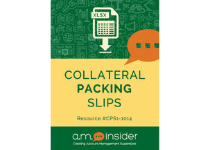 Collateral Packing Slips
