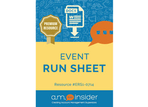 Event Run Sheet