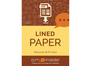 Lined Paper (FREE RESOURCE)