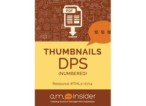 Thumbnails DPS: numbered (FREE RESOURCE)