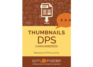 Thumbnails DPS: unnumbered (FREE RESOURCE)