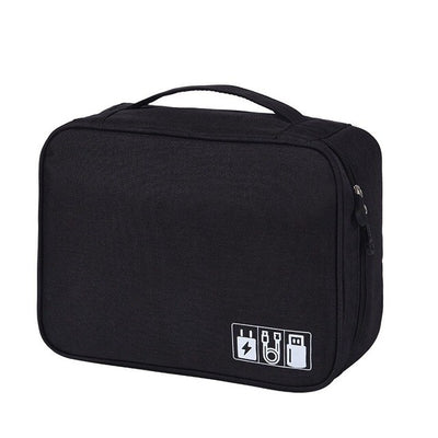 Home Office Storage Bag USB Data line Charger Organizer Portable Mobile Laptop Bag  Business Travel Waterproof Bags