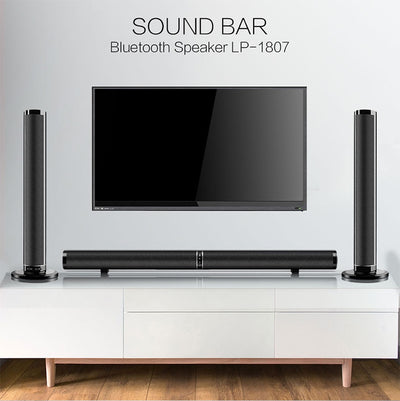 Home Theatre System Soundbar TV HDMI Wireless Bluetooth Speaker Foldable and Detachable Stereo Hifi 3D Stereo Surround RAC AUX