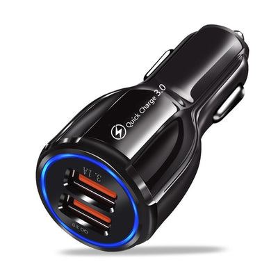 Car USB Charger Quick Charge 3.0 4.0 Universal 18W Fast Charging in car 3 Port mobile phone charger for samsung s10 iphone 11 7