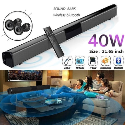 2020 New Wireless Bluetooth Soundbar Stereo Speaker Home Theater TV Sound Bar Subwoofer Music Player