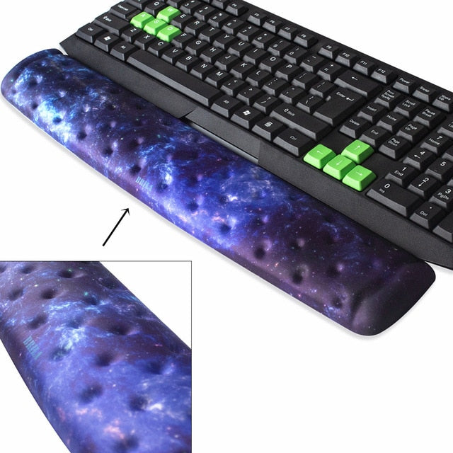 Laptop Aquamarine Keyboard Pad Non-Slip Wrist Pain Relief PC Gaming Office Work BRILA Memory Foam Keyboard Wrist Rest Support Pad Cushion for Computer