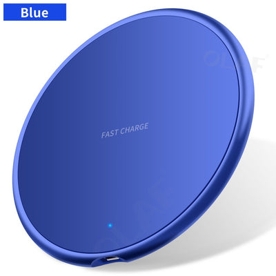 10W Fast Wireless Charger For iphone 11 8 Plus Qi Wireless Charging Pad For Samsung S10 Huawei P30 Pro Phone Charger Adapter