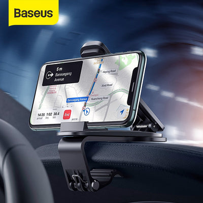 Baseus Car Phone Mount Auto Center Console Phone Holder For Xiaomi Samsung 4.7-6.5 Inch Mobilephones Stand Car Phone Support