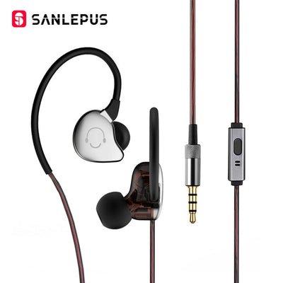 SANLEPUS High Quality Wired Earphone Metal HiFi Stereo Headphones Extra Bass Headset Earbuds With Mic For Android xiaomi sony