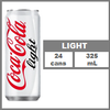 CC Coke Light Can 325 ml x 24 Cans