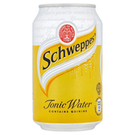 CC Schweppes Tonic Can 330 ml x 24