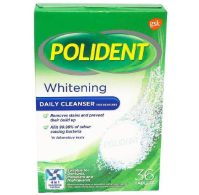 Polident Whitening Daily Cleanser For Dentures 36pcs
