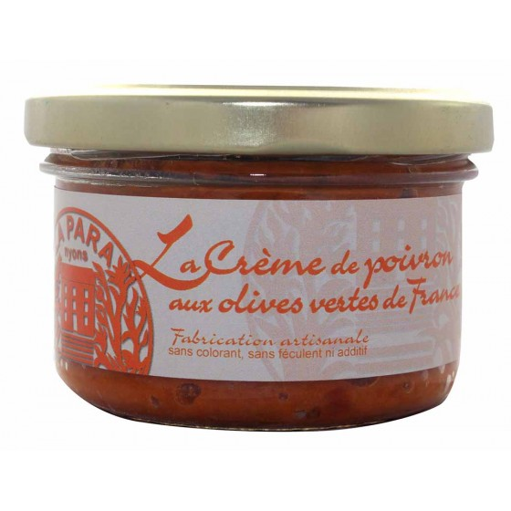 Red pepper pate with green olives 90g - Vegan