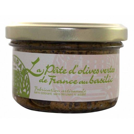 Green olive pate with basil 90g - Vegan